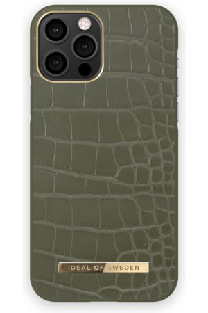 IDEAL OF SWEDEN Atelier Case iPhone 12 Pro Khaki Croco