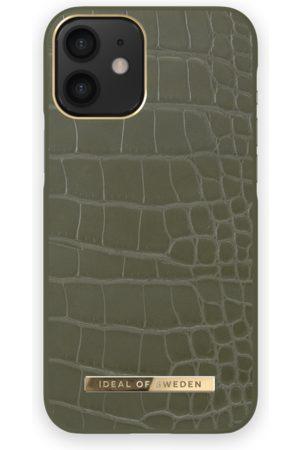 IDEAL OF SWEDEN Phone Cases - Atelier Case iPhone 12 MINI Khaki Croco