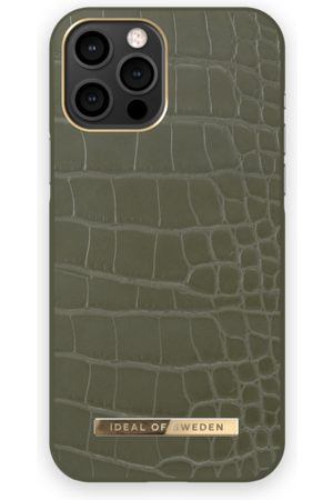 IDEAL OF SWEDEN Phone Cases - Atelier Case iPhone 12 PRO MAX Khaki Croco