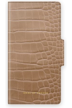 IDEAL OF SWEDEN Phone Cases - Atelier Wallet iPhone 12 Mini Camel Croco
