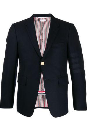 Thom Browne Tonal 4-Bar flannel blazer
