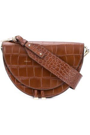 Chylak Women Shoulder Bags - Saddle croc-embossed bag