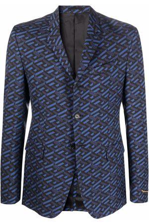 VERSACE La Greca-print blazer