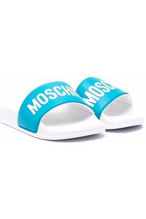 Moschino Thongs - Logo-print open-toe slides
