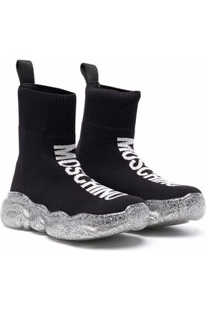 Moschino Sneakers - Sock-style ankle-length sneakers