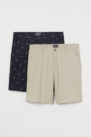 H&M 2-pack Slim Fit Chino Shorts
