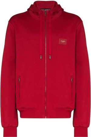 Dolce & Gabbana Logo-patch zipped hoodie