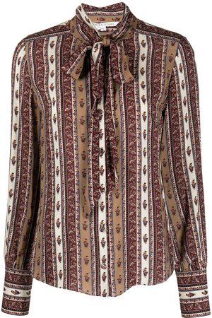 VERONICA BEARD Elaine tie-neck top