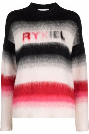 Sonia by Sonia Rykiel Logo-print striped knitted jumper