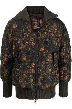 Emporio Armani Floral-print padded jacket