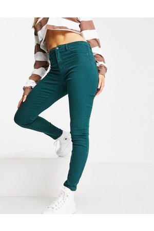 VERO MODA FRSH skinny twill pants in green