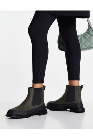 Camper Leather chelsea boots in olive