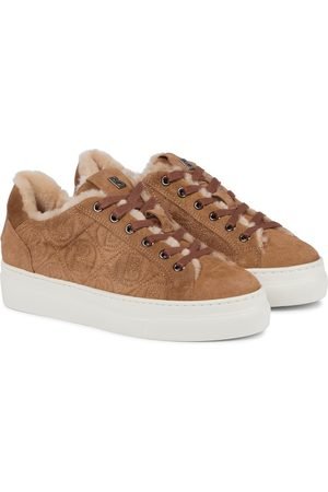 Bogner Barcelona suede and shearling sneakers