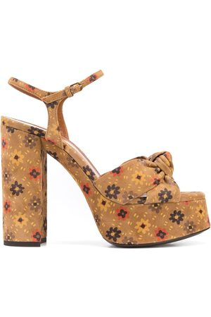 Saint Laurent Women Heeled Sandals - Bianca 85mm platform sandals