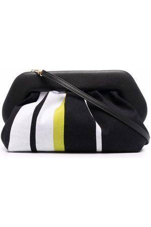 THEMOIRÈ THEMOIR WOMEN'S TMPW21BMV1BLACK COTTON SHOULDER BAG