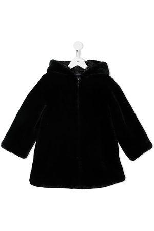 Emporio Armani Coats - Hooded faux-fur coat