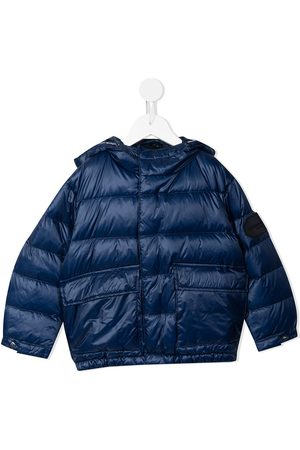 Emporio Armani Logo-patch hooded down padded jacket