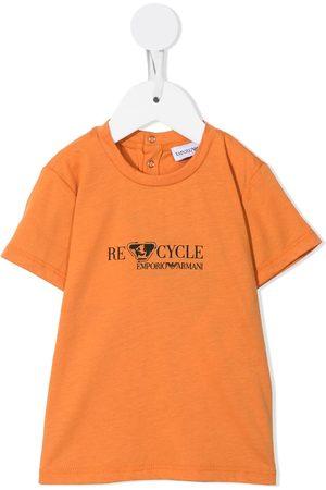 Emporio Armani Slogan-print cotton T-shirt
