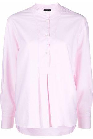 Aspesi Mandarin-collar cotton blouse