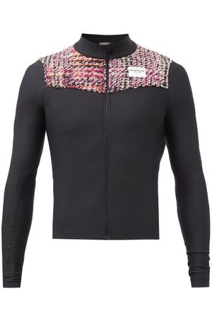 Café Du Cycliste Clemence Tweed-panel Ribbed Cycling Jersey - Mens