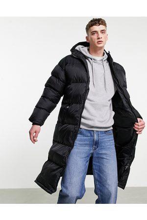Schott NYC 2190 MAX longline hooded puffer jacket in