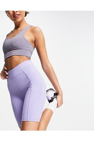 Only Play Sports performance high waist legging shorts in -Purple