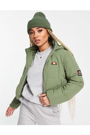 Ellesse Cropped puffer jacket in -Green