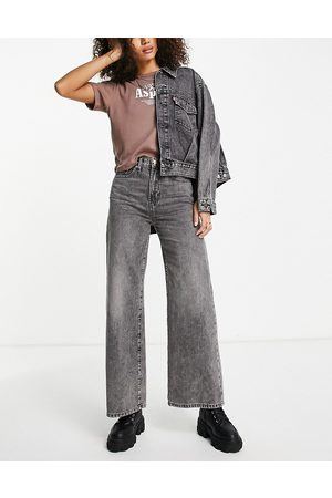 ONLY Hope high-waisted wide-legged jeans in -Blue