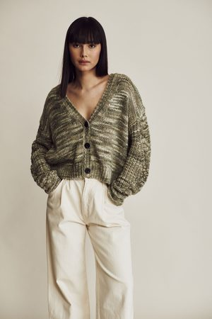 Line Evelyn Knit Cardigan Green Lily
