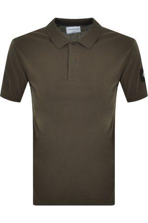 Calvin Klein Jeans Short Sleeved Polo T Shirt Khak