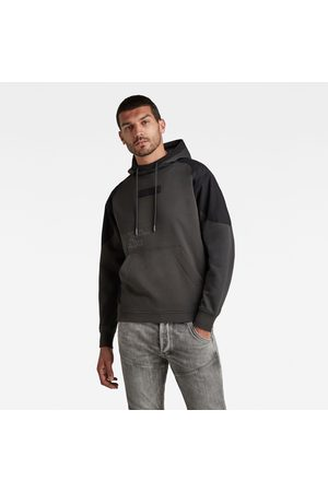 G-Star Woven Mix Graphic Loose Hooded Sweater