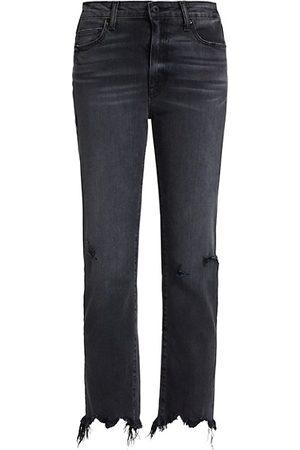 JONATHAN SIMKHAI River High-Rise Distressed Jeans
