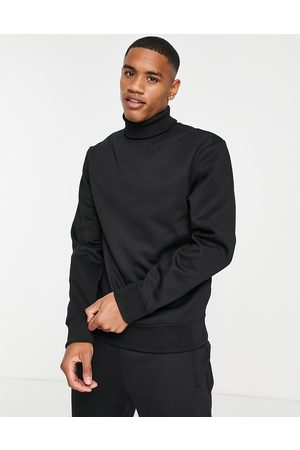River Island Slim roll neck sweatshirt in