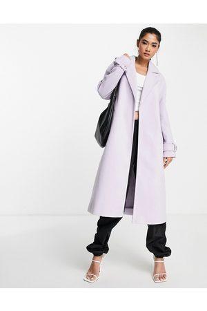 River Island Longline duster coat in -Purple