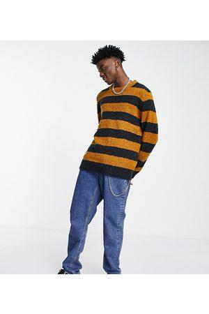 Reclaimed Inspired crew neck jumper in stripe