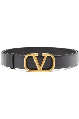 VALENTINO GARAVANI V-logo Leather Belt - Mens