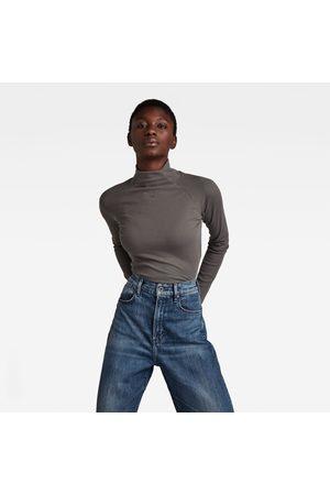 G-Star Women Long Sleeve - Rib Mock Slim Top
