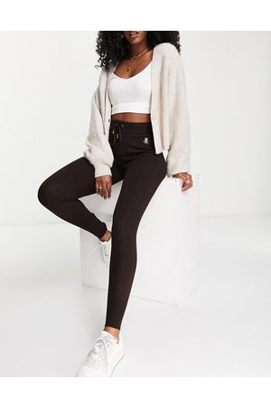 River Island Women Joggers - Knitted trackies with embroidery in (part of a set)