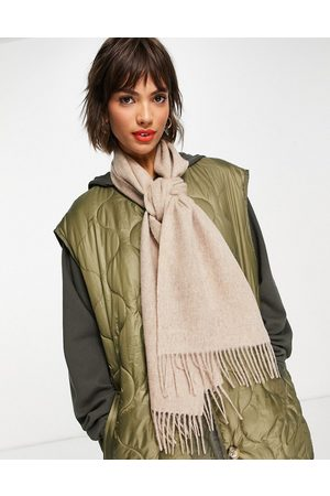 Barbour Lambswool woven scarf in -White