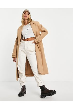 River Island Longline duster coat in -Brown