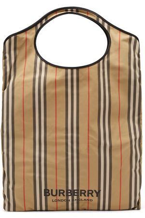 Burberry Icon-stripe Recycled-fibre Tote Bag - Womens - Multi