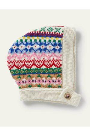 Boden Fair Isle Knitted Bonnet Baby