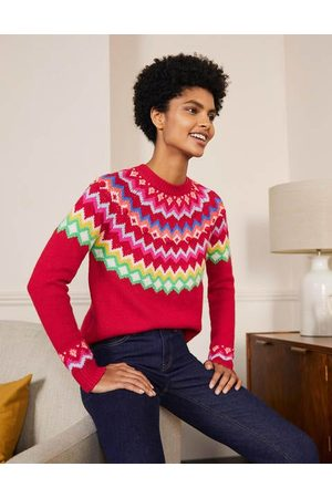 Boden Men Sweaters - Relaxed Fair Isle Jumper Christmas