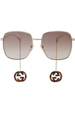 Gucci Women Sunglasses - Chain-trimmed oversized sunglasses