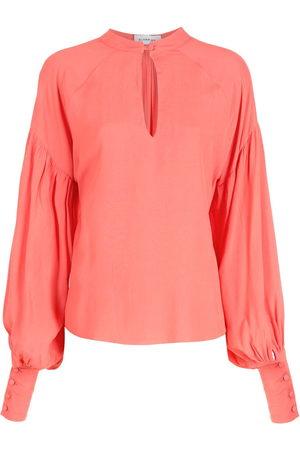 Olympiah Long puff sleeve blouse