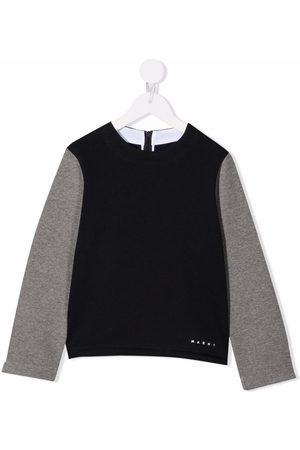 Marni Two-tone crew neck sweatshirt