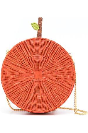 SERPUI Laranja straw crossbody bag