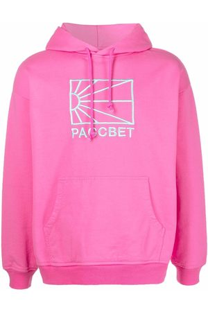 PACCBET Logo-embroidered cotton hoodie