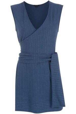 Alcaçuz Tied-waist ribbed blouse