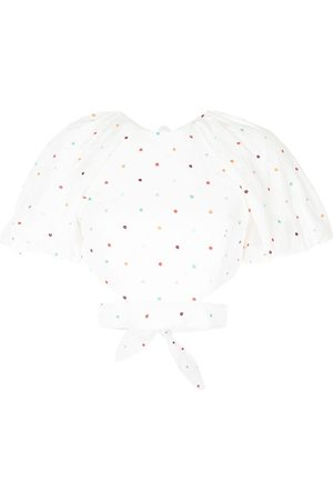 Rebecca Vallance Women Blouses - Belle embroidered puff-sleeve top